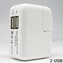 2USB power adapter charger